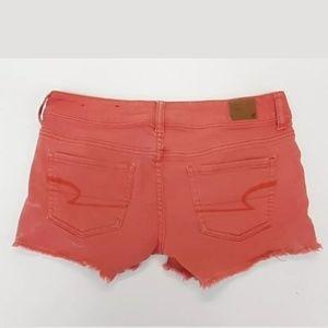 American Eagle Womens Pink Mini Jean Shorts Size 4